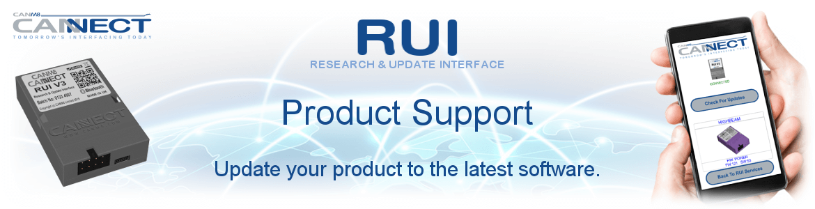 CANNECT RUI System - Product Support